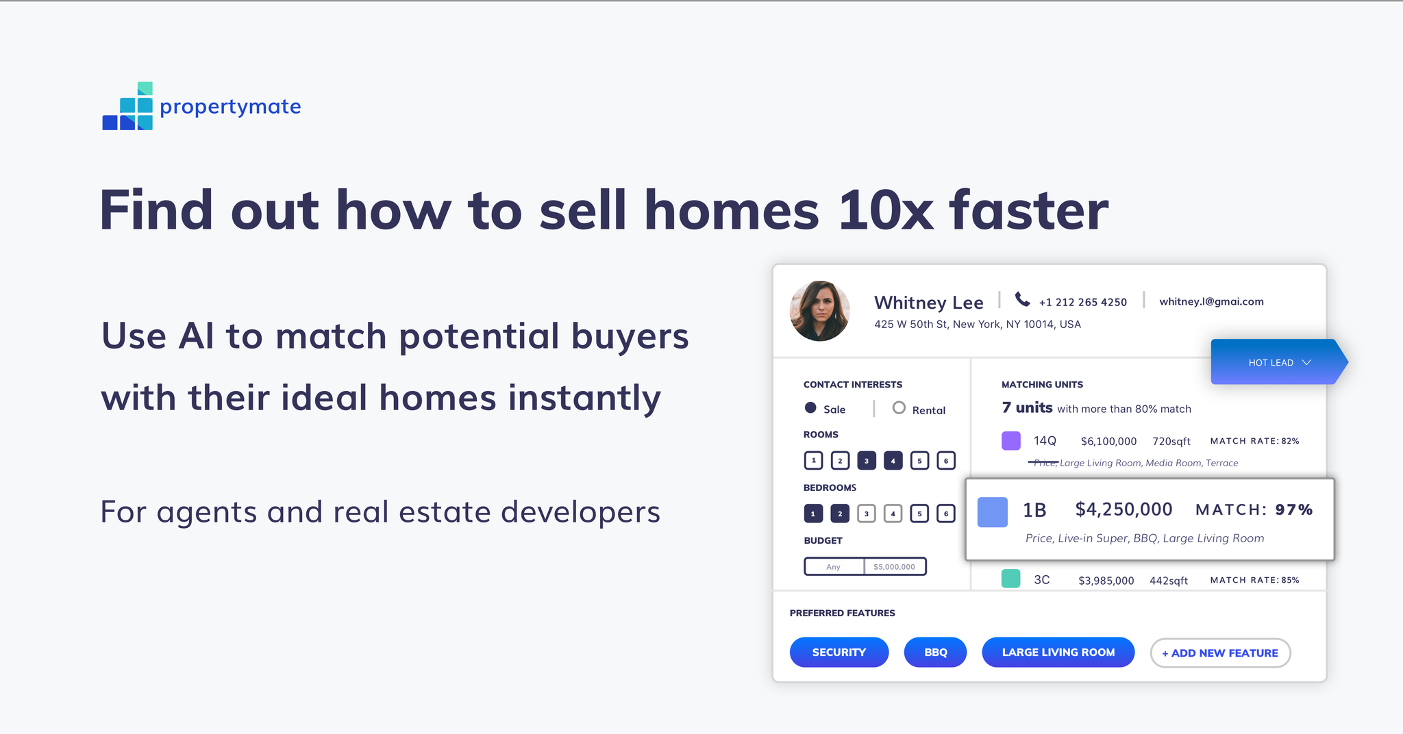 Properymate.ai CRM-for-real-estate-agents